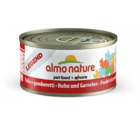 Cat food Almo in a box of 70 g chicken with shrimps.