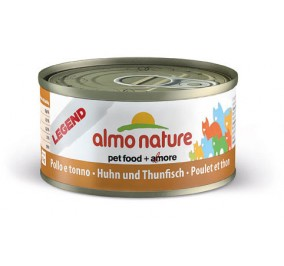Cat food Almo in a box of 70 g chicken with tuna.