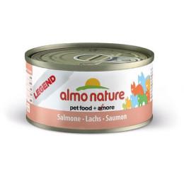 Nourriture pour chat Almo en boite de 70gr au saumon.