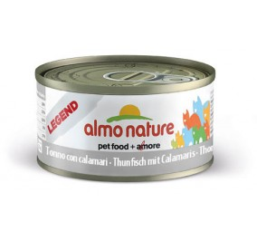 Cat food Almo in a box of 70 g tuna and calamari.