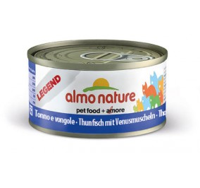 Cat food Almo in a box of 70 g tuna and shells.