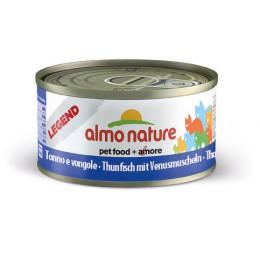 Nourriture pour chat Almo en boite de 70gr au thon et coques.