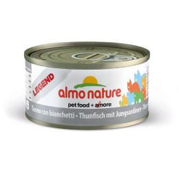 Nourriture pour chat Almo en boite de 70gr au Thon et blanchaille