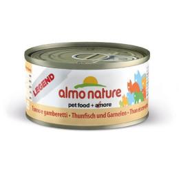 Nourriture pour chat Almo en boite de 70gr au thon et crevettes