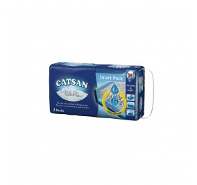 Litiere chat Catsan Smart Pack 2x4l (non agglom erante)