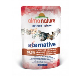 Nourriture pour chat Almo Alternative au poulet en sachet de 55gr