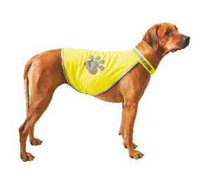 Safety-Dog, gilet de securite taille M reglable, a fermeture velcro