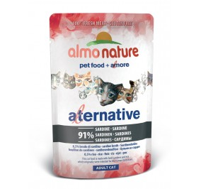 Nourriture pour chat Almo Alternative à la sardine en sachet de 55gr