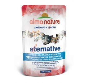 Aliment pour chat Almo Alternative au thon de l'Atlantique sachet 55gr