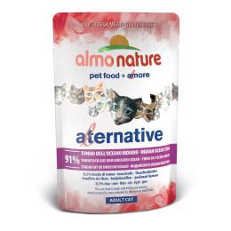 Nourriture pour chat Almo Alternative, Thon Océan Indien sachet 55g