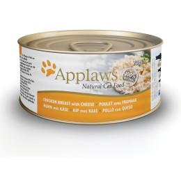 Aliment pour chat Applaws en boite filet de poulet & fromage 70g