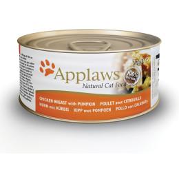 Nourriture chat applaws en boite Filet de poulet et citrouille 70g