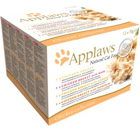 Cat food Applaws in a box with chicken 12x70g