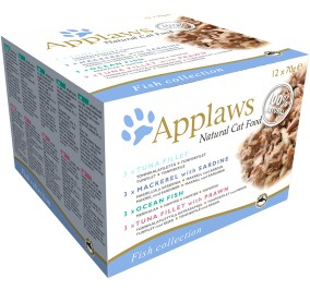assortment box of Applaws cat fish-based 12x70g