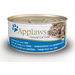 Aliment pour chat en boite Applaws au thon et au crabe 70gr