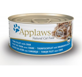 Food for cat-in-a-box Applaws tuna and crab 70 g