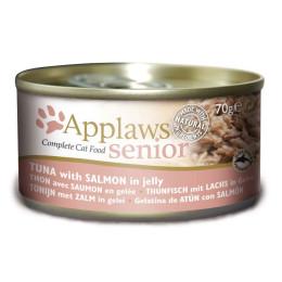 Nourriture pour chat agés en boite Applaws thon et saumon 70gr