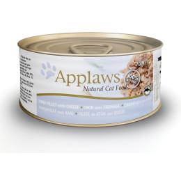 Boite pour chat Applaws en boite filet de thon et fromage 70gr