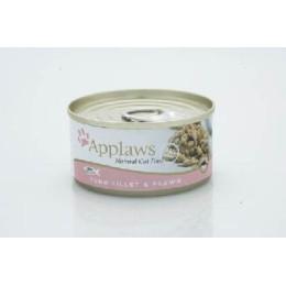 Boite  pour chat Applaws au filet de thon et crevette 156g