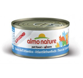Cat food Almo in a box of 70 g Tuna of the Atlantic.