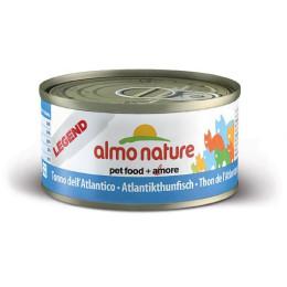 Nourriture pour chat Almo en boite de 70gr au Thon de l'Atlantique.