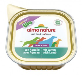 Almo Nature dog, Bio Paté 100g  Agneau