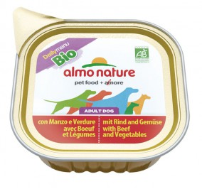 Almo Nature dog Bio Pâté 100g Beef and vegetables