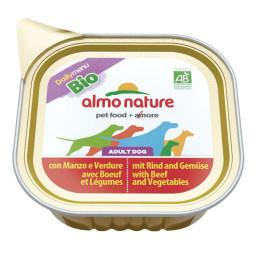 Almo Nature dog, Bio Paté 100g Boeuf et légumes