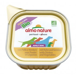 Almo Nature dog, Bio Paté 100g Poulet et légumes