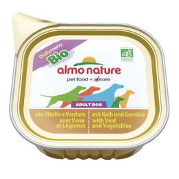 Almo Nature dog, Bio Paté 100g Veau et légumes