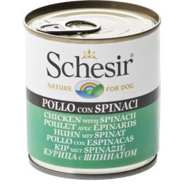 Schesir Chien Boite Poulet&Epinards 285g