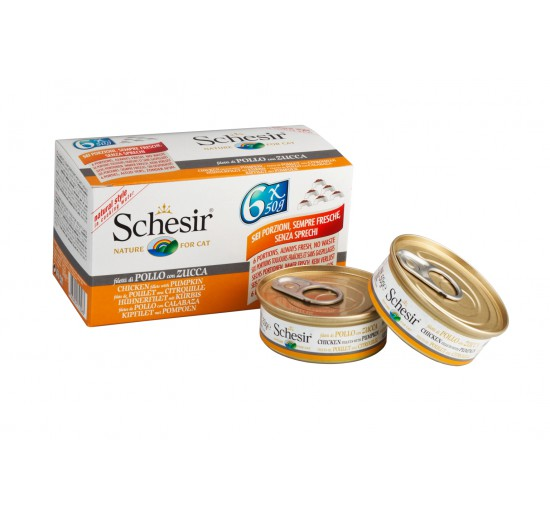 Schesir Cat Pack 6x50g Chicken&Duck