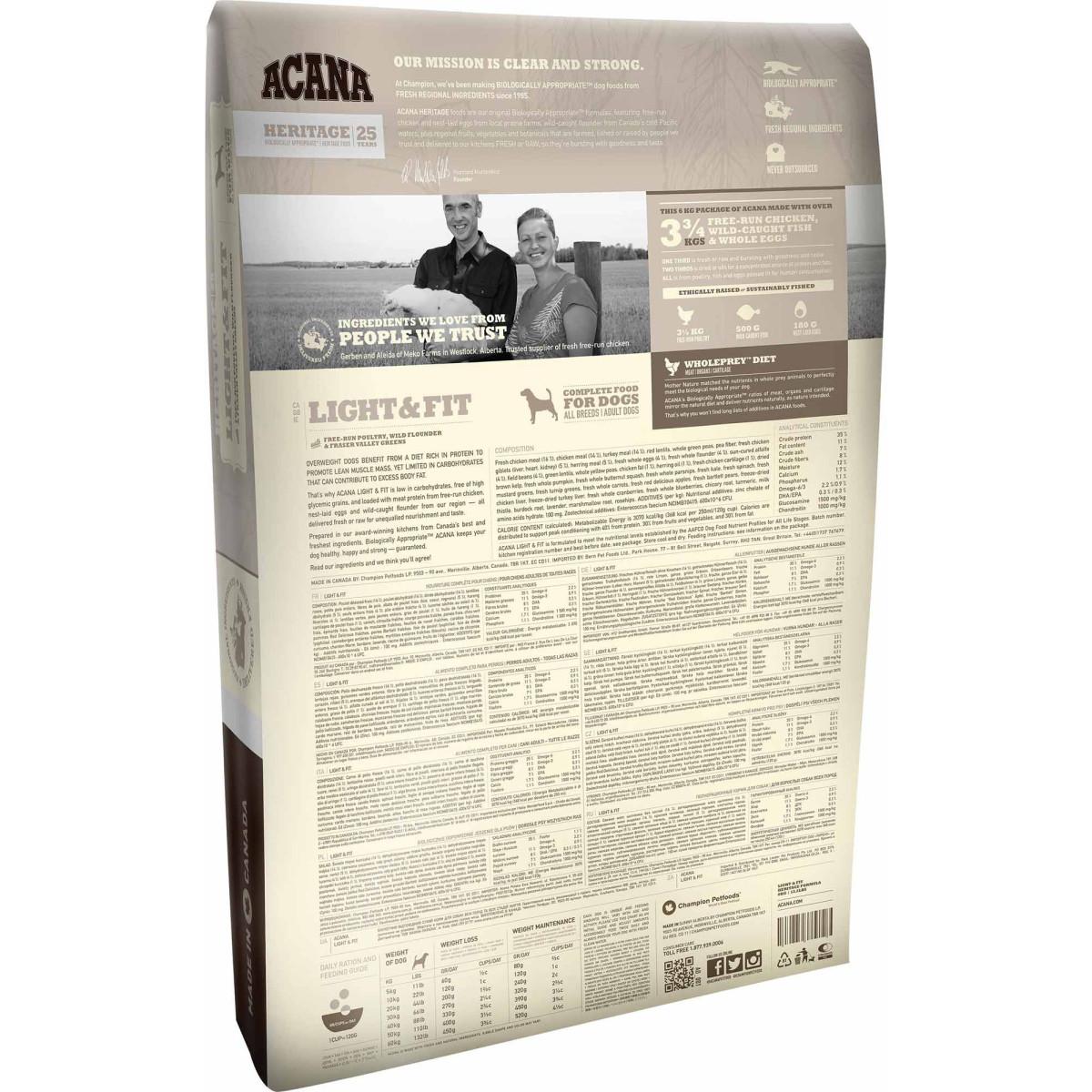 aliment pour chien acana light fit 2kg. Black Bedroom Furniture Sets. Home Design Ideas