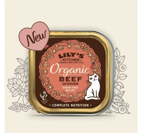 Lily's Kitchen Cat Paté Organic boeuf 85gr