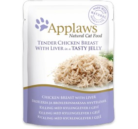 Cat food Applaws white and liver of chicken in bag 70 g