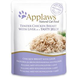 Nourriture pour chat Applaws blanc et foie de poulet en sachet de 70gr