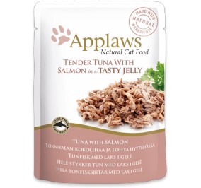 Aliment pour chat Applaws au thon et saumon sachet 70gr.