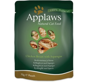 Cat food Applaws chicken breast & asparagus in a pack of 70g