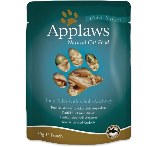 Food for cats Applaws pouch Tuna Fillet & Anchovy 70g