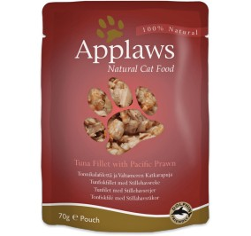 aliment pour chat applaws thon crevette en sachet 70gr