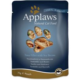 Aliment pour chat Applaws au thon et daurade en sachet de 70gr