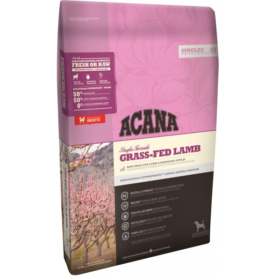 Aliment pour chien ACANA SINGLES Grass-Fed Lamb 11.4kg