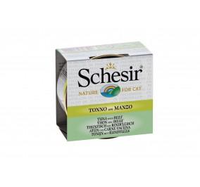 Schesir Cat Box 70g (Broth) Tuna&Beef