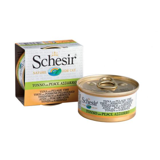 Schesir Cat Box 70g (Broth) Tuna&Pelagic Fish