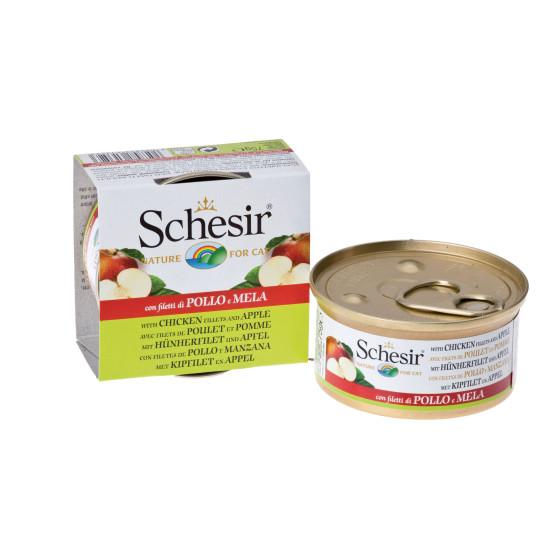 Schesir Cat Box 75g Chicken&Apple