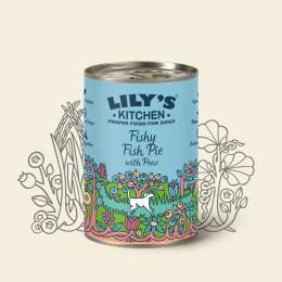 Aliment pour chien Lily's Kitchen à la dinde et au poissons en boite de  400gr