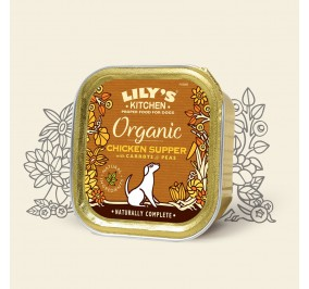 Lily's Kitchen Dog Paté Organic Poulet 150gr