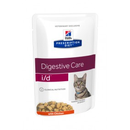 Prescription Diet ™ i / d™ Feline Tender Chunks in Gravy with Chicken 4x (12x85gr)