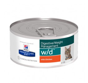 Prescription Diet™ w/d™ Feline au Poulet Boite 24x156gr