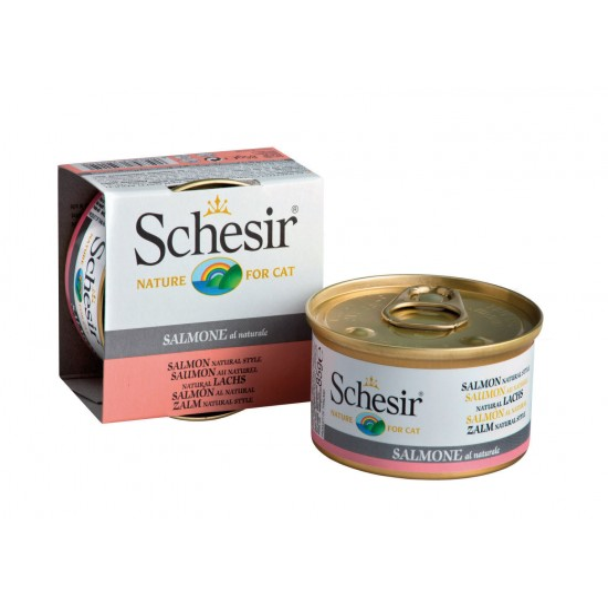 Schesir Cat Box NAT 85g Salmon